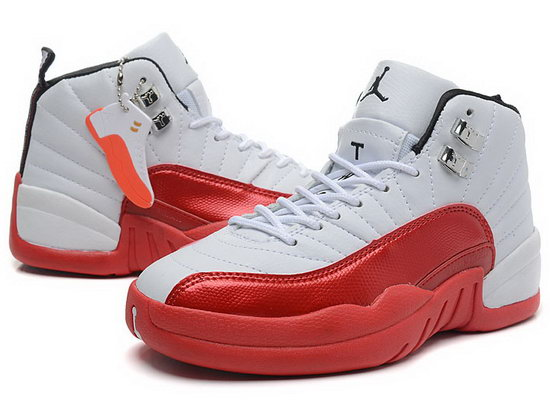 Womens Air Jordan Retro 12 White Red Norway